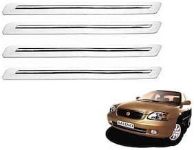 Kozdiko White Bumper Protector 4 pc For Maruti Suzuki Baleno