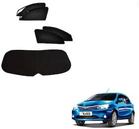 Kozdiko Zipper Magnetic Sun Shades Car Curtain With Dicky For Toyota Etios Liva