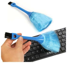 Kudos Black Desktop Computer Telephone Two Ends Keyboards Cleaning Ash Brush (pack of 1)