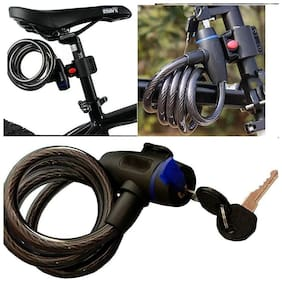 kudos Multipurpose Number Cable Steel Spiral Lock For Bicycle Motorcycle Bike Cycle