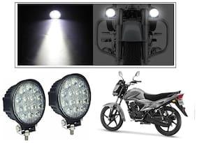 KunjZone 14 LED Circle 42 W Bike Auxillary CREE Fog LA Light Flood Light Bulb Offroad Motorcycle LED/ Aux Light (Set of 2) For Suzuki Hayate EP
