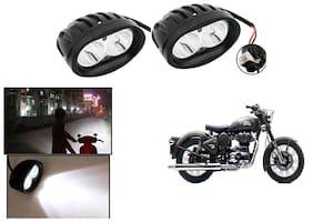 KunjZone 20W Bike Spot Beam Auxillary Lamp Motorycle LED Fog Light (Set of 2) For Royal Enfield Classic 500