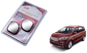 KunjZone 3R-065 Car Rear View Blind Spot Mirror Adjustable 360 Degree 2 Pcs Black For Maruti Suzuki Ertiga
