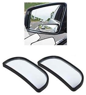 KunjZone 3R-066 Wide Rectangle Car Blind Spot Side Rear View Mirror For Maruti Suzuki Omni Black
