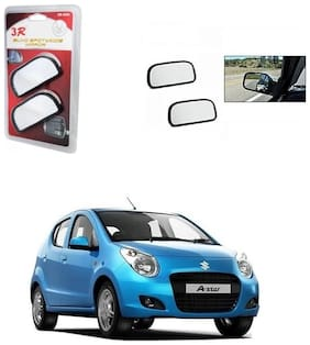 KunjZone 3R Wide Rectangle 3r066 Car Blind Spot Side Rear View Mirror (Set of 2) For Renault Fluence