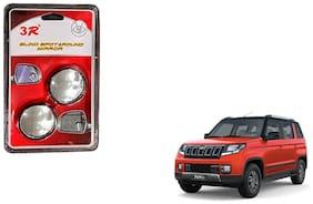 KunjZone 3R Round Shaped Blind Spot Rear Side Mirror For Mahindra Tuv 300 Black