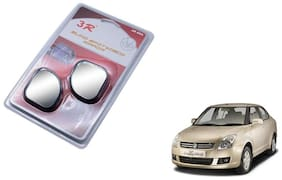 KunjZone 3R-065 Car Rear View Blind Spot Mirror Adjustable 360 Degree 2 Pcs Black For Maruti Suzuki Swift Dzire