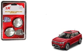 KunjZone 3R Round Shaped Blind Spot Rear Side Mirror For Mahindra Xuv 300 Black
