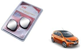 KunjZone 3R-065 Car Rear View Blind Spot Mirror Adjustable 360 Degree 2 Pcs Black For Tata Tiago