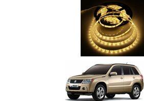 Kunjzone 5 Meters Waterproof Cuttable LED Lights Strip Yellow For Maruti Grand Vitara