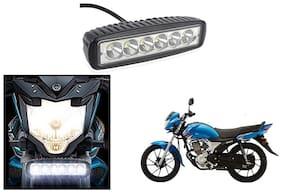 KunjZone 6 Led Bar Cree Auxillary Bike Fog Lamp 18W Set of 1 For Yamaha Saluto RX