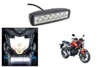 KunjZone 6 Led Bar Cree Auxillary Bike Fog Lamp 18W Set of 1 For Honda CB Hornet 160R