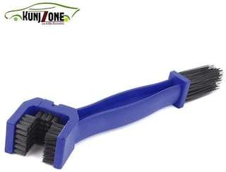 KunjZone ABS Plastic Motorcycle Chain Cleaner Brush Cycle Chain Cleaner, Blue