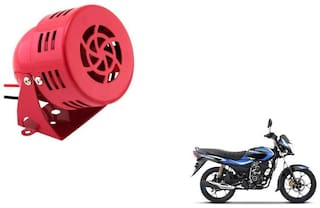 KunjZone Air Raid Siren Sound Horn Red for Bajaj Platina 110 H Gear