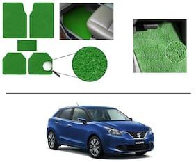 KunjZone Anti Slip Noodle Car Floor Mats Set of 5-Green For Maruti Suzuki Baleno