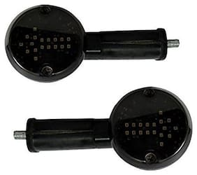 KunjZone Arrow LED Side Indicator for Red&Yellow Set Of 2 For TVS Apache RTR 180