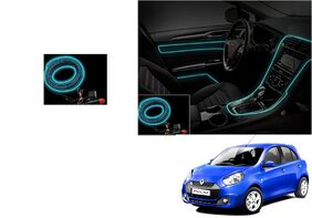 Kunjzone Car Interior Ambient Wire Decorative LED Ice Blue For Renault Pulse