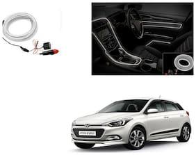 Kunjzone Car Interior Ambient Wire Decorative LED Light White For Hyundai Elite I20