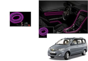 Kunjzone Car Interior Ambient Wire Decorative LED Light Purple For Chevrolet Enjoy