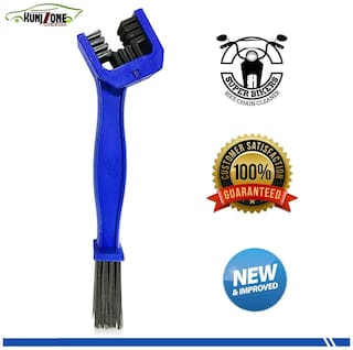 KunjZone Chain Cleaning Brush for Motorcycle and Cycle (Blue)