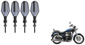 KunjZone DRL LED Turning Side Indicator for Bikes Pack of 4 Blue and Yellow Royal Enfield Thunderbird 350