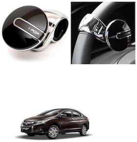 KunjZone  I-Pop Platinum Car Steering Wheel Power Holder Knob Spinner -Honda City i-Dtec