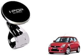 KunjZone I Pop Steering Wheel Knob Big Size Black For Maruti Suzuki Swift Black