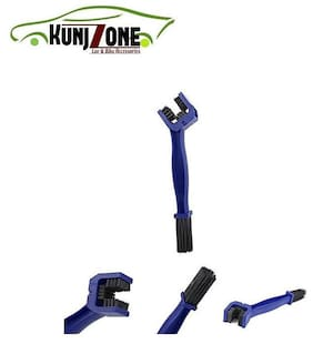 KunjZone Motorcycle/Cycle Chain Cleaner Brush Blue for Royal Enfield Classic Desert Storm