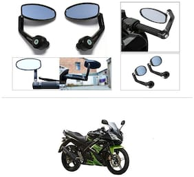 KunjZone Premium Quality Motorycle Bar End Mirror Rear View Mirror Oval For Yamaha R15 s