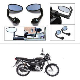 KunjZone Premium Quality Motorycle Bar End Mirror Rear View Mirror Oval For Bajaj Platina