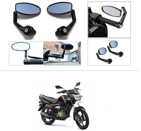 KunjZone Premium Quality Motorycle Bar End Mirror Rear View Mirror Oval For TVS Victor New
