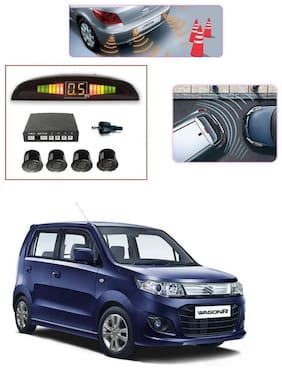 KunjZone Premium Quality Reverse Car Talking Parking Sensors (Black) with LCD Display-Maruti Suzuki Wagon R 1.0