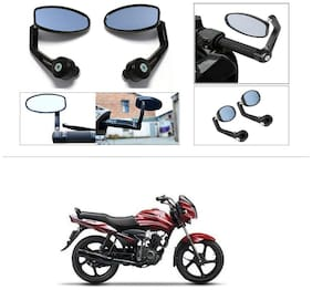 KunjZone Premium Quality Motorycle Bar End Mirror Rear View Mirror Oval For TVS Jive