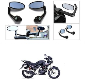 KunjZone Premium Quality Motorycle Bar End Mirror Rear View Mirror Oval For Honda CBZ