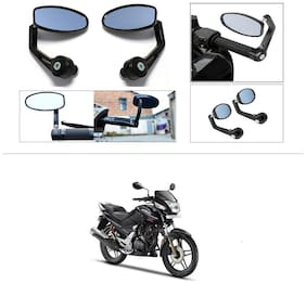 KunjZone Premium Quality Motorycle Bar End Mirror Rear View Mirror Oval For Honda CBZ TYPE 1
