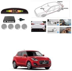 KunjZone Premium Quality Reverse Car Talking Parking Sensors (Silver) with LCD DisplayMaruti Suzuki Swift