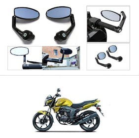 KunjZone Premium Quality Motorycle Bar End Mirror Rear View Mirror Oval For Honda Trigger