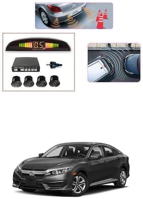KunjZone Premium Quality Reverse Car Talking Parking Sensors (Black) with LCD Display-Honda Civic