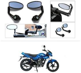 KunjZone Premium Quality Motorycle Bar End Mirror Rear View Mirror Oval For Bajaj XCD 125cc