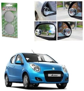 KunjZone Set of 2 Blind Spot Rear View Convex Mirror For Nissan Terrano
