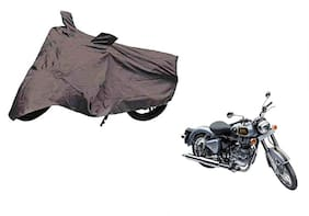 Kunjzone Shield 2x2 Grey Matty Bike Body Cover For Enfield Bullet 500