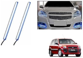 Kunjzone Slim Daytime LED DRL Lights Ice Blue Set Of 2 For Ford Fusion