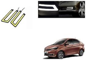 Kunjzone Slim U Shape Daytime LED DRL Lights WHITE Set Of 2 For Tata Tigor
