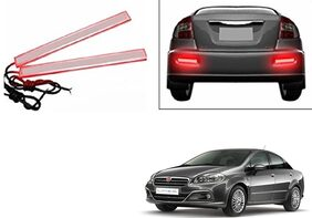 Kunjzone Slim Daytime LED DRL Lights Red Set Of 2 For Fiat Linea