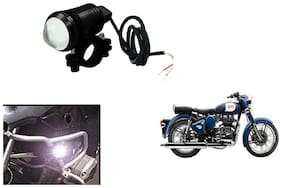 KunjZone U1 LED Motorycle Fog Light Bike Projector Auxillary Spot Beam Light ( 1 pc) For Royal Enfield Bullet 350