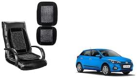 KunjZone Velvet Border Black Seat Bead Accupressure Design Single piece For Hyundai Elite I20