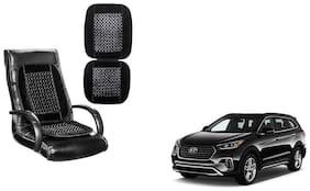 KunjZone Velvet Border Black Seat Bead Accupressure Design Single piece For Hyundai Santa Fe