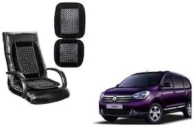 KunjZone Velvet Border Black Seat Bead Accupressure Design Single piece For Renault Lodgy