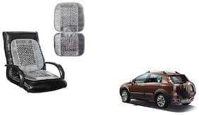 KunjZone Velvet Border Grey Seat Bead Accupressure Design Single piece For Fiat Avventura