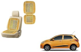 KunjZone Velvet Border Beige Seat Bead Accupressure Design Single piece For Hyundai Grand i10